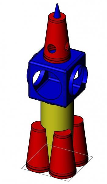 Детский игровой комплекс «Ракета» (комплект)