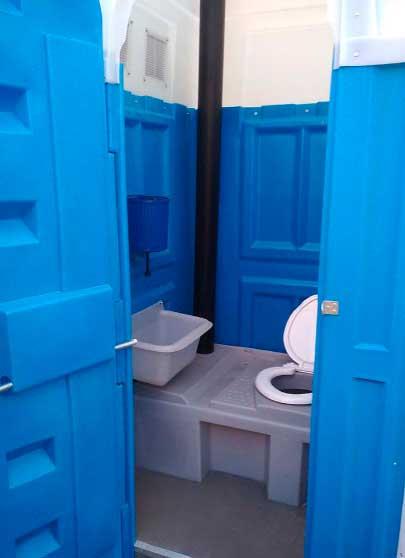 Туалетная кабина для дачи, комплектация «Люкс»
